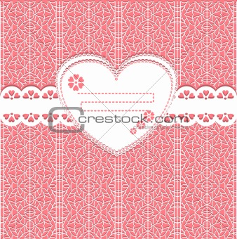 cute vector  lace frame on lace background
