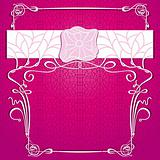 Vector lace purple background