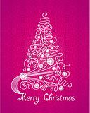 Merry Christmas vector purple card