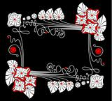 vector flower black background