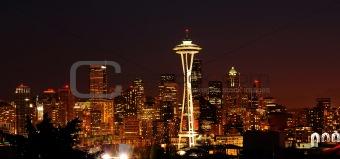 Glittering Seattle skyline