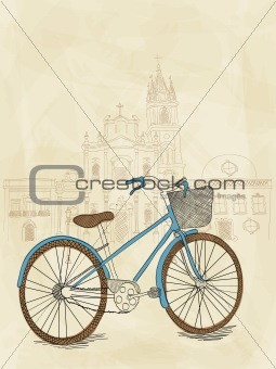 Hand drawn bicycle