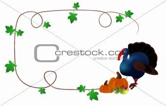 Thanksgiving day's postcard
