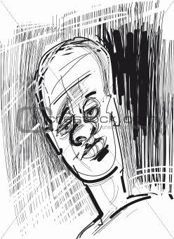 sketch of man face