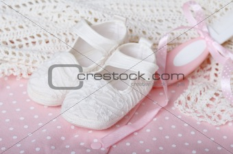 Accessories in pink for baby girl