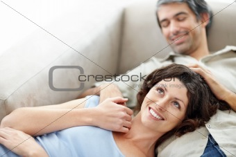 Portrait of affectionate middle aged couple