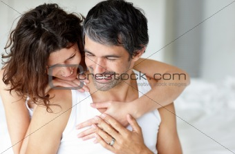 Portrait of mature romantic couple relaxing