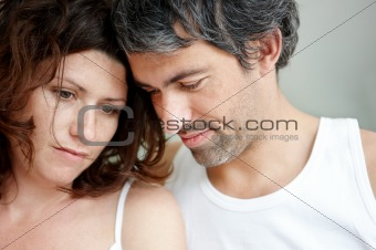 Portrait of unhappy mature couple together