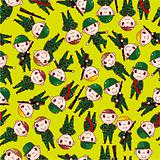 cartoon Soldier seamless pattern
