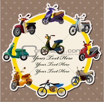 cartoon motorcycle card