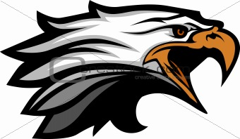 Mascot Head of an Eagle Vector Illustration
