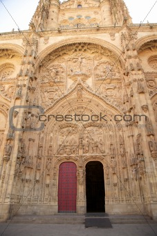 great facade of Salamanca cathedral