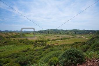 green landscape at Menorca