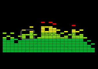 Multi-colored graphic equalizer