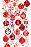 Christmas vertical seamless border
