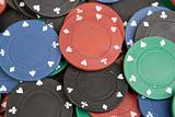 Many poker chips