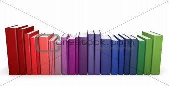 Color coordinated books