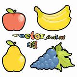 vector fruit set