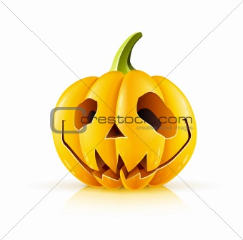 pumpkin for halloween on white background