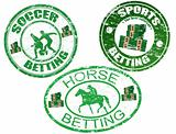 Horse, soccer and sports betting stamps