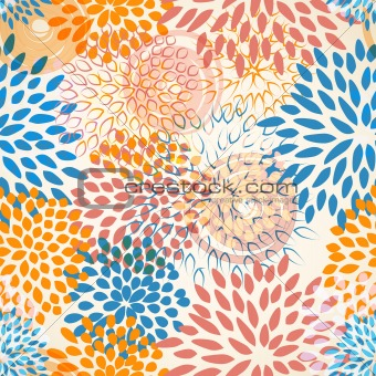 vector seamless floral background
