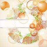 vector abstract background with floral circle and place for your