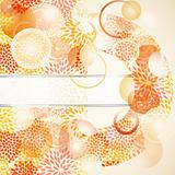 vector abstract background, seamless floral  pattern on the left