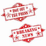 Breaking News rubber stamp