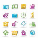 Mobile phone menu icons