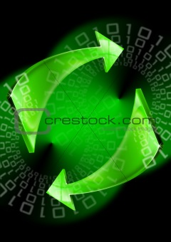 Green arrows background