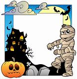 Frame with Halloween topic 3