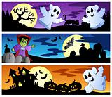 Halloween banners set 1