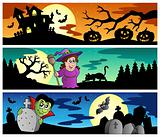 Halloween banners set 2