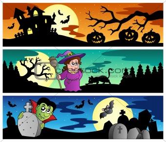 Halloween banners set 2