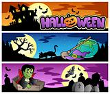Halloween banners set 3
