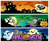 Halloween banners set 4