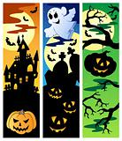 Halloween banners set 5
