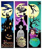Halloween banners set 6
