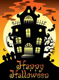 Happy Halloween theme with Moon 2
