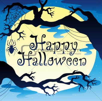 Happy Halloween theme with Moon 3