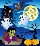 Scene with Halloween theme 2