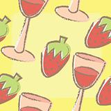 Wine and Strawberries Background