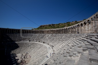 Ancient theatre of Aspendos in Turkey