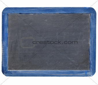 slate blackboard in blue frame
