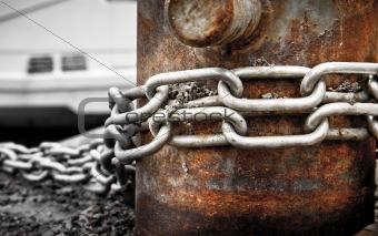 Chain around pole