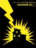 Illustration #0019 - House Struck by Lightning