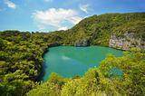 Lagoon in island