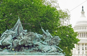 Civil War Memorial Statue at the U.S. Capitol Building in Washington DC