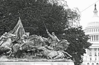 Civil War Memorial Statue at the U.S. Capitol Building in Washin