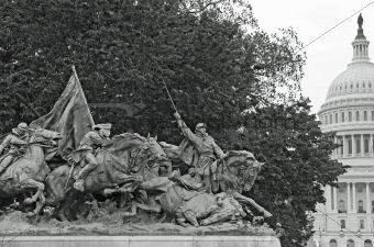 Civil War Memorial Statue at the U.S. Capitol Building in Washin
